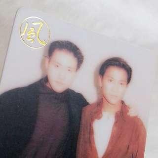 劉德華 張學友 合照 年曆咭 年曆卡 Calendar Card 1994 男歌星 明星相片 照片