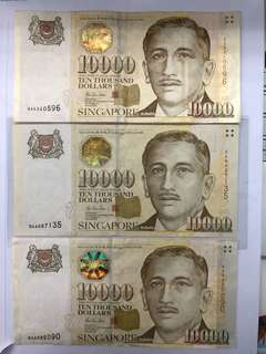 3 pcs Potrait $10000