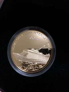 Royal Caribbean Gold Plated Medallion
