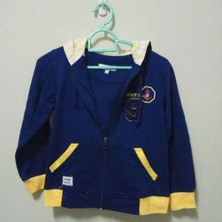 Jacket anak biru kuning