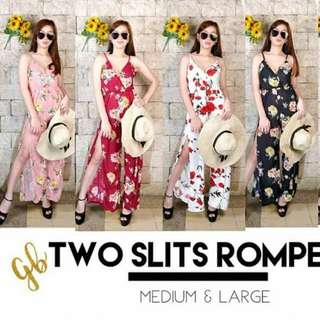TWO SLITS ROMPER