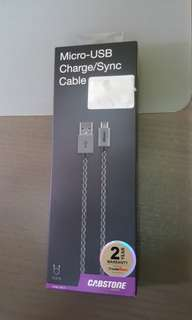 Cabstone Micro USB fully braided cable 30cm