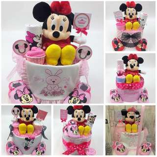 Ready made Diapers Cake - Minnie Mouse theme