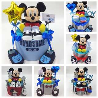 Ready Made Baby Diapers Cake - Mickey Mouse Specal!