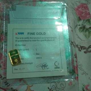 Emas antam (logam mulia 24karat) 2gram