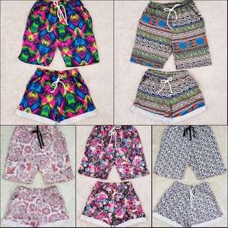 Printed Couple Shorts With Back and Side Pockets