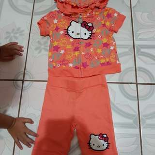 Hello kitty jacket set for 6 months old baby
