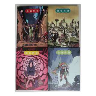 Aama, set of 4 hardcover graphic novels (completed series)