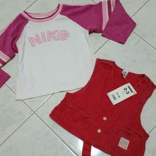 Vest & Nike Top