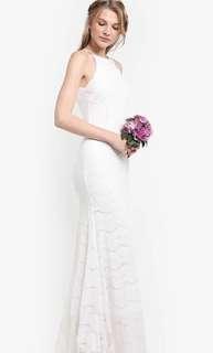 ZALORA white maxi dress