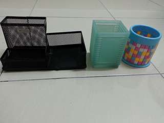 Stationery Holder x 3 + Free Memo Note
