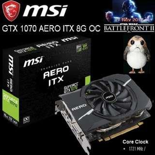 MSI GTX 1070 AERO ITX 8G OC.