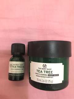 Preloved tea tree night mask n oil The Body Shop