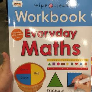 Workbook Math Wipe and Clean + Spidol