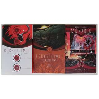 Roche Limit volumes 1-3 (graphic novels, ongoing series)