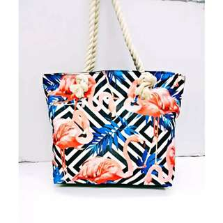 Summer Beach Tote Bag [TMM Style: FLAM-ILL]
