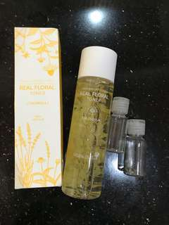 Natural pacific real floral toner calendula share in botol 20ml