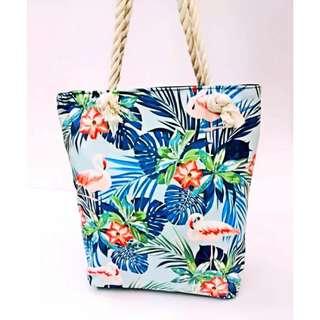 Summer Beach Tote Bag [TMM Style: FLAM-BLU]