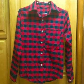 🚚 紅色格子襯衫