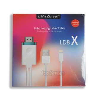 MiraScreen LD8 X iPhone 適用 同屏視頻線 Lightning To HDMI Cable