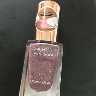 Miniso nail polish 18 silver atau kutek miniso