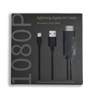 MiraScreen A5-01 IPhone X適用高清視頻線 Lightning To HDMI Cable