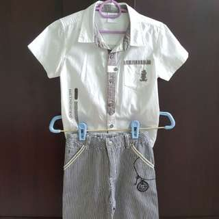 Baby Kikko Kids Shirt & Shorts Set