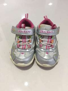 Baby girl Skechers Shoes with Lights