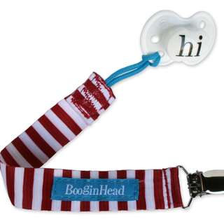 BooginHead Pacifier Strap - Nautical Red