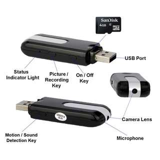 Hidden Spy Cam Camera Mini USB Flash Drive Nanny HD DVR Portable U-disk