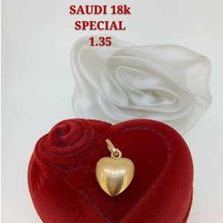 18K SPL SAUDI GOLD PENDANT