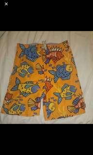 Fish Orange Kids Board Shorts