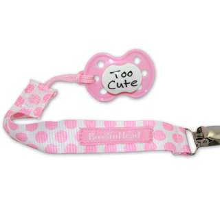 BooginHead Pacifier Strap - Delicate Dot Pink