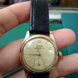 Vintage Tissot solid gold subdial watch