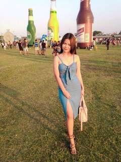 Tie front terno dress