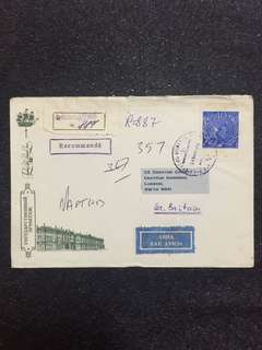 USSR Russia Postal Envelope 1986 Registered Leningrad to Britain