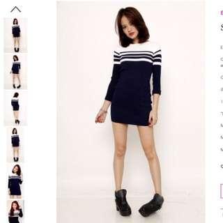 ➖NFS ATM➖RTP $28.90 Set Sail Bodycon Dress (NM $27.50)