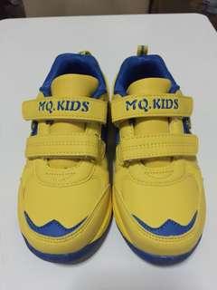 Mq Kids Yellow Blue Mickey Lamp Shoes, Size 30