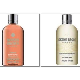 Molton Brown London Gingerlily Body Wash + Ultrasmooth Coco de Mer Body Lotion 30ML