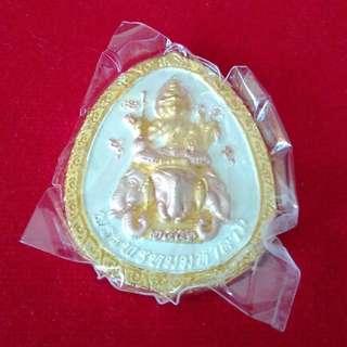 4 Face Buddha Phra Phrom (Wat Nok) 3 Colour Amulet / 四面佛 佛牌