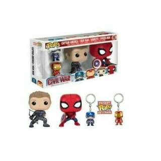 Funko Pop Marvel Civil War 4-Pack