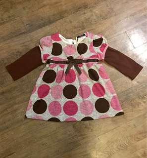 Rare Editions Pink and Brown Dress