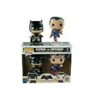 Funko Pop Batman Vs Superman 2 Pack