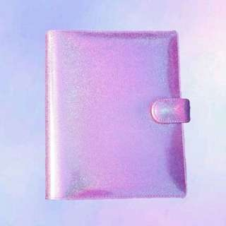 Binder hologram lavender 20ring dan 26ring