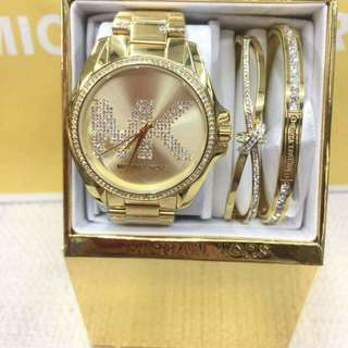 MK Watch with Bangles (Authentic)