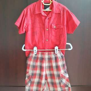 Max Kool Kids Shirt & Shorts Set