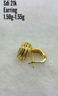 Pawnable Saudi Gold Earrings 21k