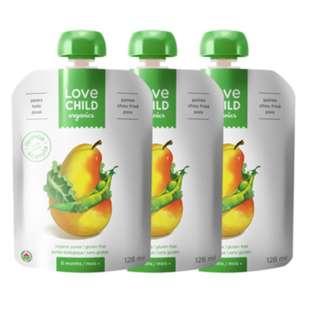 【 Love Child 加拿大寶貝泥 】有機鮮萃生機蔬果泥 均衡寶系列 -西洋梨 羽衣甘藍菜 碗豆_3入組
