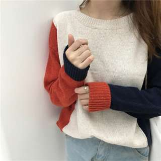 Forever 21 Three Tone Sweater