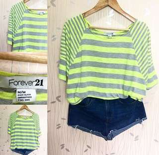 Forever21 Green Stripes Comfy Top ❤️